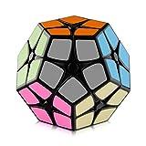 D-FantiX Shengshou 2x2 Megaminx Speed Cube Smooth Pentagonal Dodecahedron Puzzles Cube Black