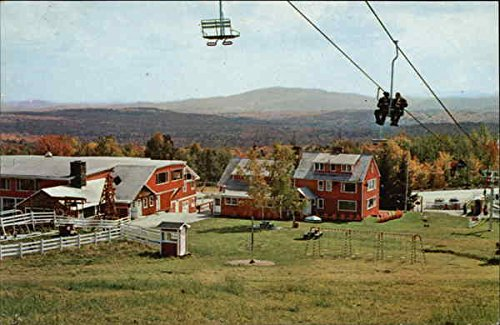 The-Chairlift-at-Bromley-Mountain-Bromley-Vermont-Original-Vintage-Postcard