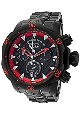 Invicta Men's 1599 Venom Analog Display Swiss Quartz Black Watch
