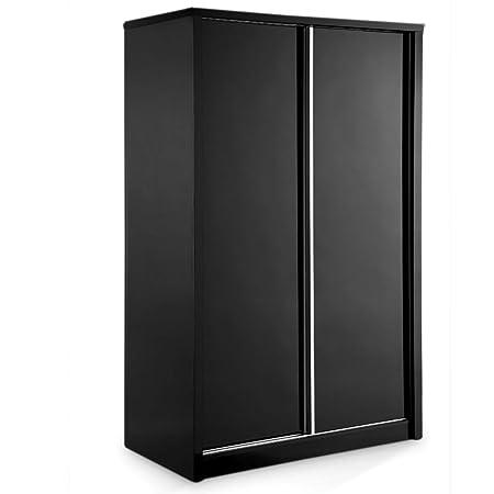 Novello armario deslizante acabado: negro