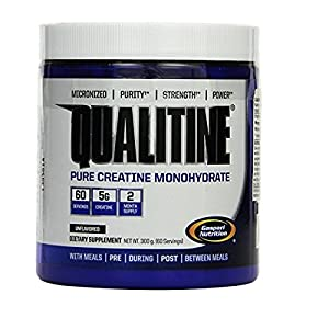 Gaspari Nutrition Qualitine 300 g Creatine Monohydrate Muscle Size and Strength Powder