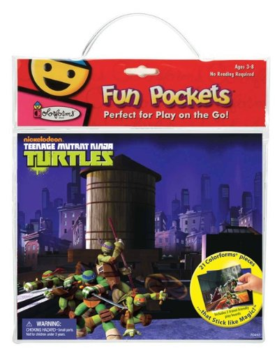 Colorforms Fun Pockets Teenage Mutant Ninja Turtles Sticker Kit
