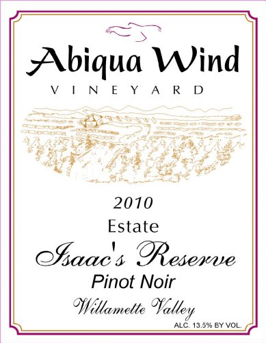 2011 Abiqua Wind Vineyard Isaac'S Reserve Pinot Noir Williamette Valley Estate 750 Ml