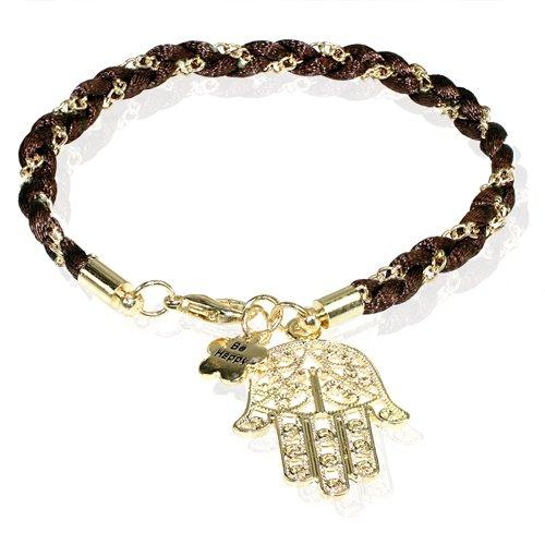 Fashion Braided Cord Bracelet with Hamsa