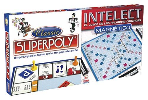 Falomir 646393 - Juego Doble Superpoly+Intelect Magnético