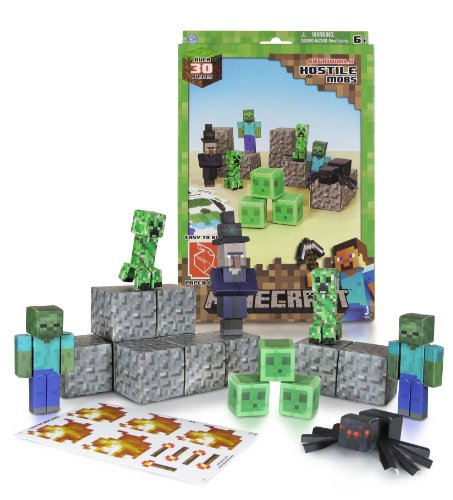 Minecraft Papercraft Hostile Mobs Set, Over 30 Piece - 1