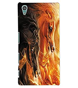 ColourCraft Horses Design Back Case Cover for SONY XPERIA Z5