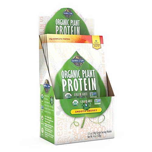 Garden Of Life Organic Protein Powder Vegan Plant Based Protein Energy 5 Count Tray Food