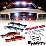Red White 36x LED EMS EMT Emergency Vehicle Strobe Warning Lights - 1 set