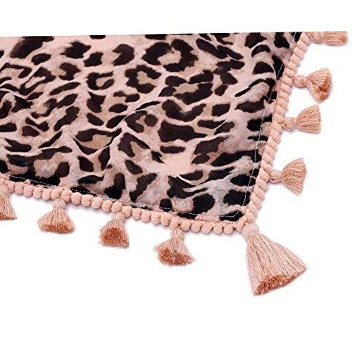 Primavera e triangolo di lati autunno moda stampa leopardo maglia femminile/Scialle/ dual-use inverno maree sciarpa-D Unica