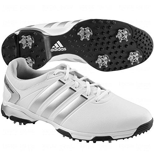 adidas Men's Adipower TR Golf Shoe, Running White/Metallic Silver/Core Black, 11 M US