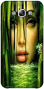 Snoogg Woman In The Jungle 2844 Hard Back Case Cover Shield Forsamsung Galaxy E7