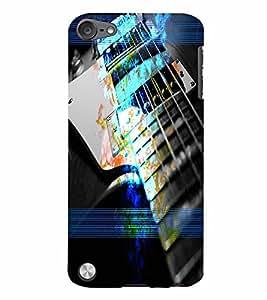 PrintVisa Music Guitar 3D Hard Polycarbonate Designer Back Case Cover for Apple iPod Touch 5