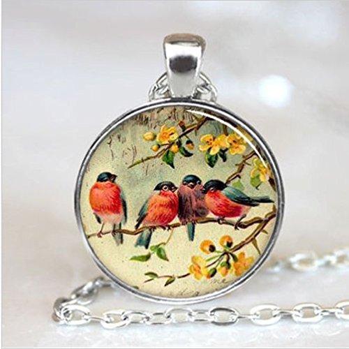red-robin-bird-art-necklace-pendant-necklace-resin-pendant-photo-pendant