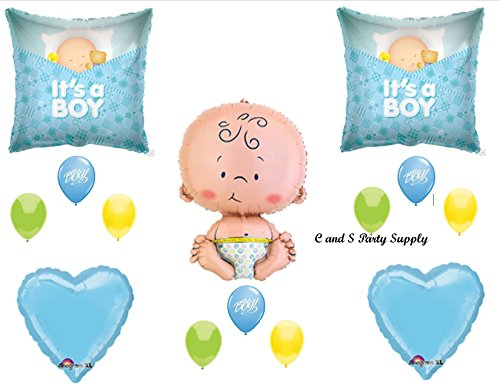 It'S A Boy Sleeping Baby Shower Balloons Decorations Supplies front-959866