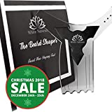 HOLIDAY SALE! Beard Shaping Tool Guide, Best Shaper Styling Template for Perfect Line Up & Edging, Premium Quality, Transparent stencil styling Goatee, Mustache & Neckline,Curve/Step or Straight Cut