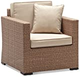 Strathwood Griffen All-Weather Wicker Chair, Natural