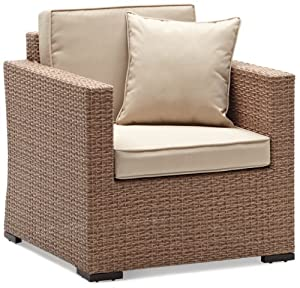 strathwood griffen all weather wicker chair natural patio