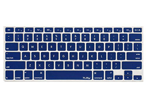 Kuzy - NAVY BLUE Keyboard Cover Silicone Skin for MacBook Pro 13