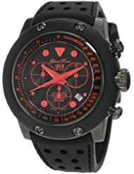 Glam Rock Men's GR90110 Racetrack Collection Chronograph Black Silicone Watch