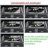 Rckfahrsystem-Einparkhilfe-170-Farb-Rckfahrkamera-Nummernschild-Kennzeichen-Rckfahrkamera-kabellos-Funk-43-TFT-LCD-Digital-Monitor-Bildeschirm-Nummernschildhalterung-in-Schwarz-43-Zoll-Klappbar-Monito