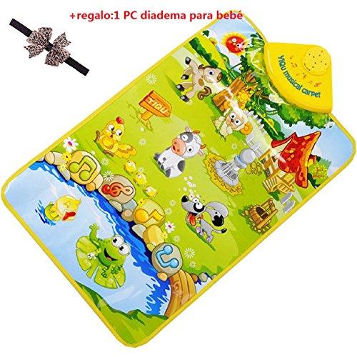 Malloom® sonido de música Granja de animales niños juego bebé jugando estera alfombra play mat gimnasio juguete