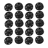 SODIALR Clothes Sewing 15mm Press Studs Buttons Fastener Black 20 Pcs