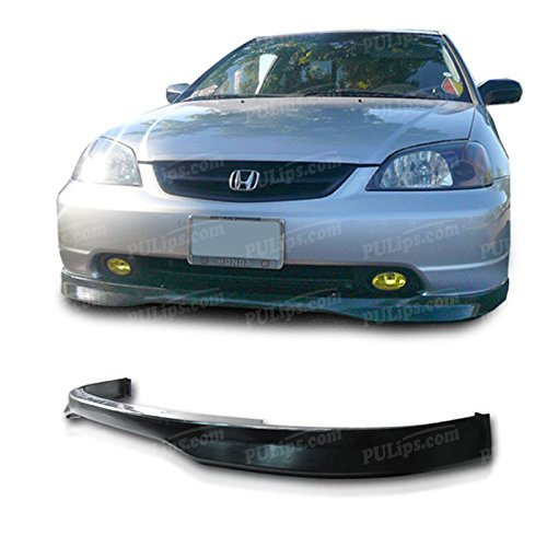 PULIps HDCV01TRFAD - Type-R Style Front Bumper Lip For Honda Civic 2001-2003 (Honda Civic 2003 Front Bumper Lip compare prices)