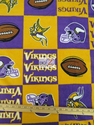 Minnesota Vikings Nfl Football Print Polar Fleece Fabric
