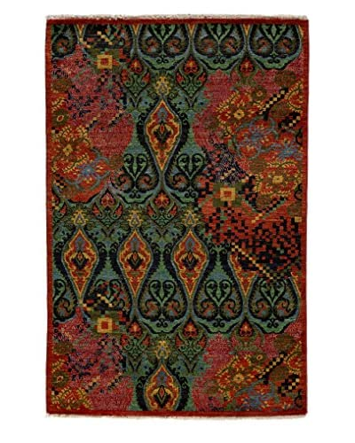 Darya Rugs Suzani Hand-Knotted Rug, Red, 4' 1 x 6' 3