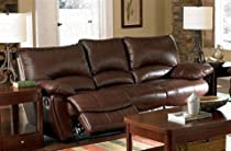 Hot Sale Recliner Sofa Couch in Brown Leather Match