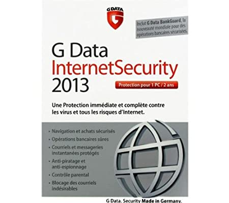 G Data internet security 2013 (1 poste, 2 ans)