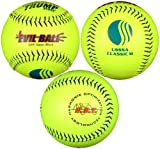 Trump® MP-EVIL-CLAS-Y2 Evil Sports 12 inch Softball - Premium Yellow Leather - USSSA Approved (Sold in Dozens)