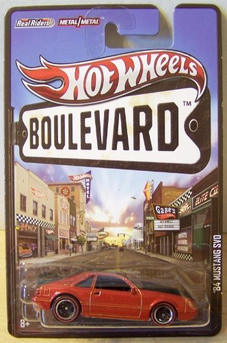 Hot Wheels Boulevard '84 Mustang SVO Dark Red/Black - 1