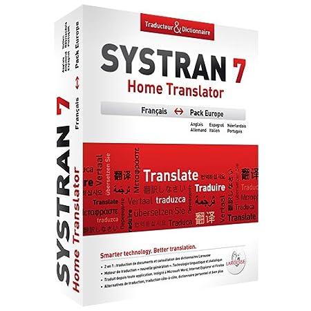 Systran 7 Home Translator  Francais-Europe