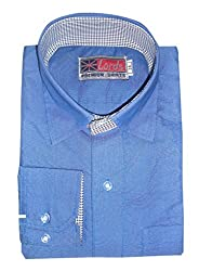 Lords Wear Men's Formal Shirt (LordsWear_Royal Blue_36)