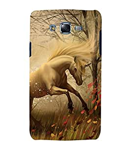 printtech Fantasy Unicorn Back Case Cover for Samsung Galaxy A8 / Samsung Galaxy A8 A800F