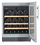 Liebherr UWKes 1752 GrandCru freestanding Stainless steel 46bottle(s) A - wine coolers (Freestanding, Stainless steel, Black, 4 shelves, 1 door(s), Stainless steel)