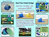 Self expanded beach tent, sun shelter family package, Outdoor Stuffs