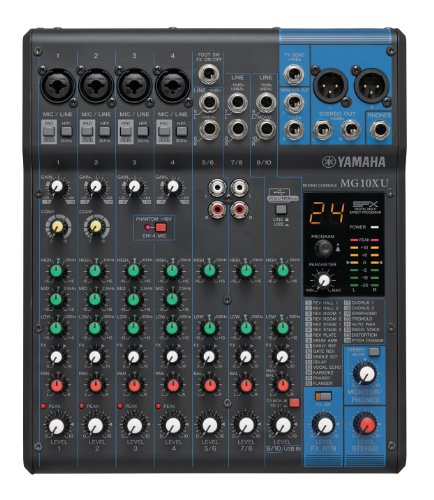 Yamaha MG10XU 10-Input Stereo Mixer with Effects (Mixer Karaoke Yamaha compare prices)