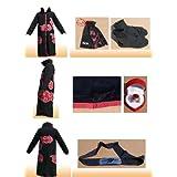Naruto Itachi Uchiha Deluxe Cosplay Costume Black (Size: L)