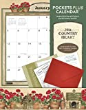 Orange Circle Studio 2014 Pockets Plus Wall Calendar, Country Heart (16028)