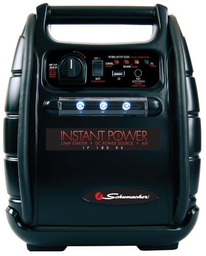 Schumacher IP-180KE Instant Power 950 Peak Amps Jump Starter with 18Ah Internal Battery