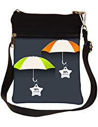 Snoogg Abstract Rainy Season Background Cross Body Tote Bag / Shoulder Sling Carry Bag