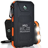IVSO 11000mAh Solar Charger- Portable So...