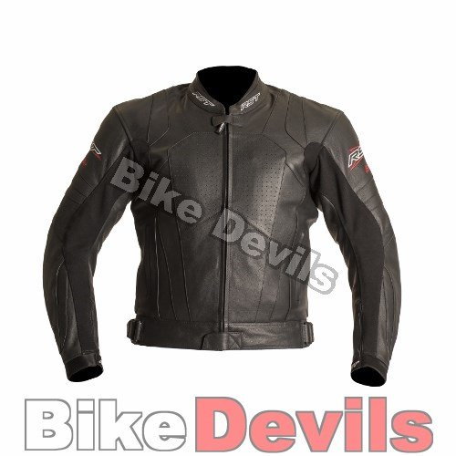 RST BLADE SPORT ROAD RACE MOTORCYCLE MOTORBIKE LEATHER JACKET BLACK 48