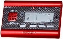 Seiko SAT100R - Afinador para guitarra y bajo, color rojo