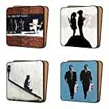 BANKSY Coasters Pack of 4 Mix 1 - NEW super Size Art Coasters Furniture, Dinnerware Sets 11cm x 11cm