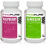 Pure Raspberry Ketones & Green Coffee Bean Diet Pills | Best Value Duo Saver Weight Loss Pack | 1 Month Supply