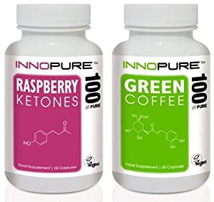 Pure Raspberry Ketones & Green Coffee Bean Duo Pack | 1 Month Supply | Special Offer